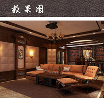复古豪华英式客厅设计