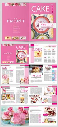 高端大气纯英文蛋糕甜点画册