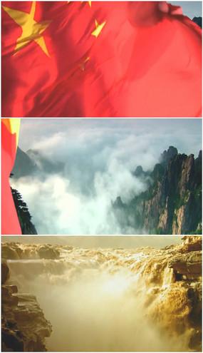 红旗飘动视频
