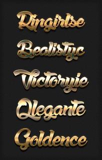 金属质感3D字体炫酷金属字
