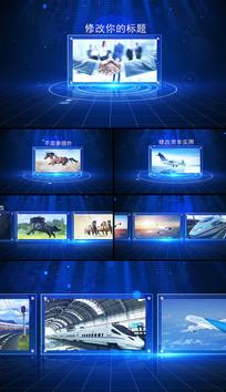 蓝色图文展示企业宣传AE模版
