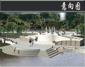 某湖开发区亲水广场效果