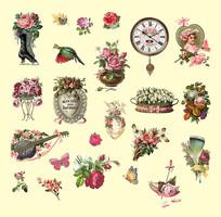 欧式花卉素材