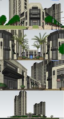 商住小区建筑景观