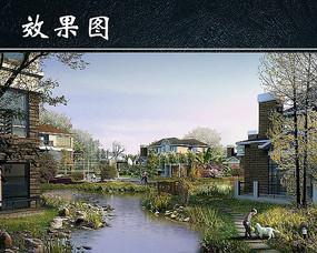 水景别墅公园图