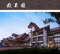 特色古韵酒店建筑