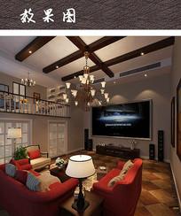 现代复式住宅室内效果图