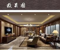 现代中式客厅空间设计