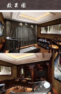 运动休闲室内房间设计