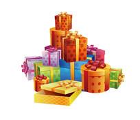 多彩礼物盒素材