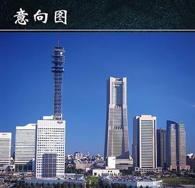 高清城市景观高楼意向图