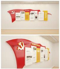 光辉历程社区党员活动室文化墙 AI