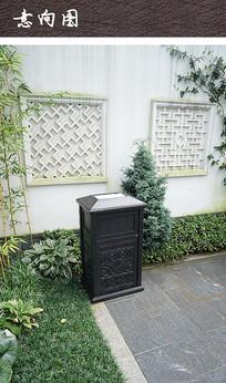 现代中式垃圾桶设施