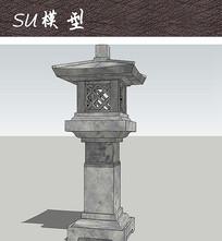 中式石灯笼小品