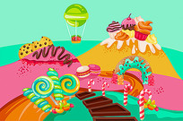 彩色糖果包装盒设计
