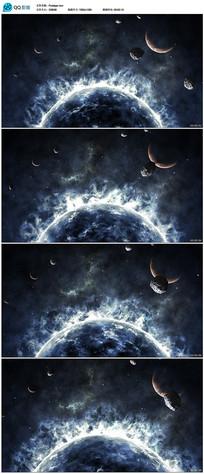 大气宇宙星球燃烧背景视频