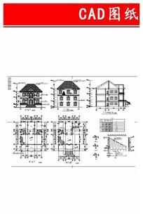 多层住宅别墅平立面图 CAD