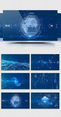互联网平台大数据AE模版