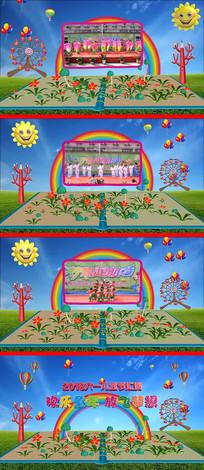 六一儿童节片头AE模板