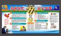 施工安全生产宣传展板