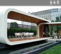 屋顶花园水景廊架意向 JPG