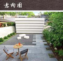 现代小庭院设计 JPG