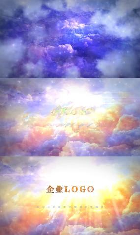 云层标志展示开场AE模板