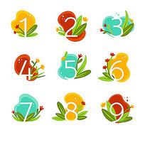 植物卡通数字设计
