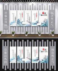 中式古典廉政文化墙中式文化墙