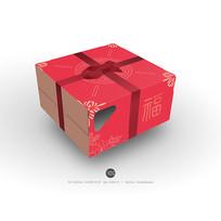 祝寿蛋糕盒立体效果图