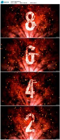 红色粒子10秒倒计时视频