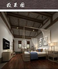 复古民宿卧室装修