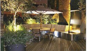 花园庭院休息茶座景观