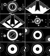 几何图案动感爵士舞蹈背景视频
