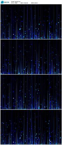 蓝色上升粒子线条背景视频