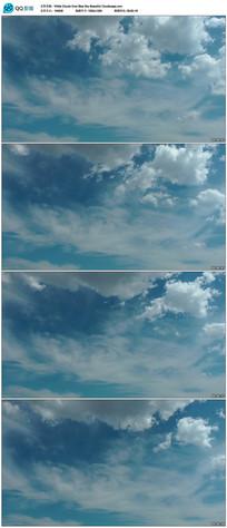 蓝天白云背景视频