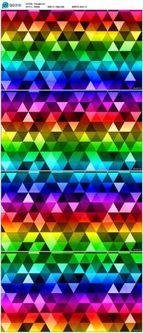 三角几何炫彩图形背景视频