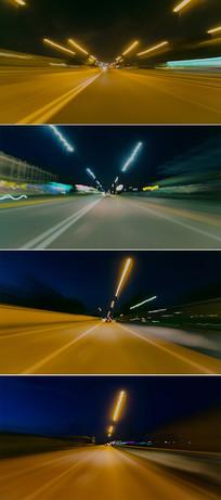 实拍汽车高速行驶视频素材 mp4