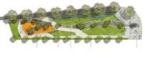 小公园彩色平面图