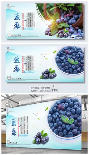 小清新新鲜蓝莓海报