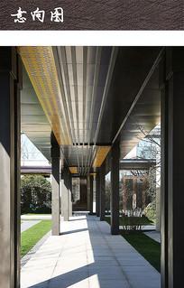 新中式景观通廊