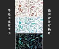 植物元素花纹装饰图案背景素材