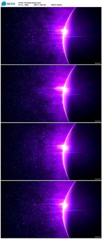 大气紫色地球轮廓光线视频