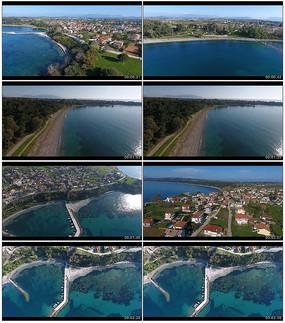 海边城市航拍视频素材