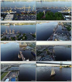 海边城市建筑航拍视频素材