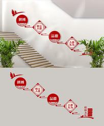 立德树人拼搏校园文化楼梯墙面设计