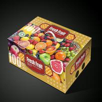 外国水果包装水果礼盒展开图