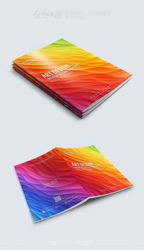 炫彩时尚画册封面模板设计