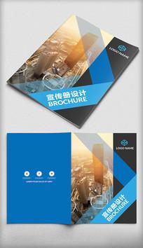城市高楼背景企业画册封面设计