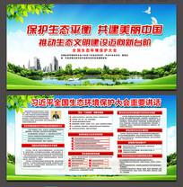 全国生态环境保护大会展板